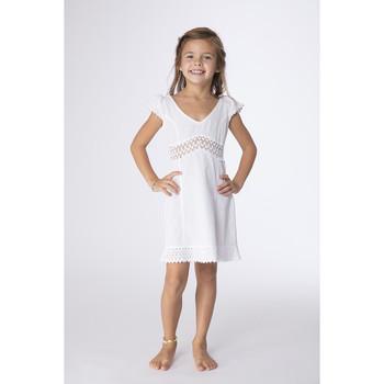 Vêtements Fille Robes courtes La Cotonniere ROBE TRIANA Blanc