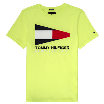 Vêtements Garçon T-shirts manches courtes Tommy Hilfiger  Jaune