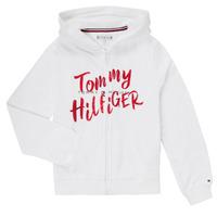 Vêtements Fille Sweats Tommy Hilfiger KG0KG05043 Blanc