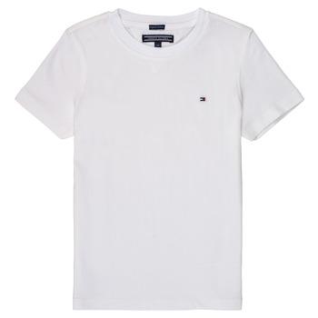 Vêtements Garçon T-shirts manches courtes Tommy Hilfiger  Blanc