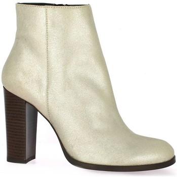 Chaussures Femme Low boots Vidi Studio Boots cuir laminé Or