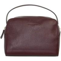 Sacs Femme Sacs porté main Pourchet Sac à main  en cuir ref_47121 Bordeaux 21*15*6 rouge