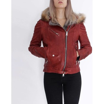 Vêtements Femme Vestes en cuir / synthétiques Delan V402 Rouge