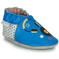 Chaussures Enfant Chaussons Robeez MUSIC SOUND Bleu / Beige