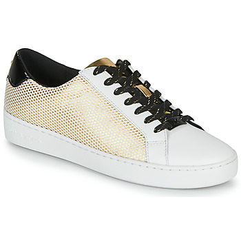 Chaussures Femme Baskets basses MICHAEL Michael Kors IRVING LACE UP Blanc / Noir / Doré