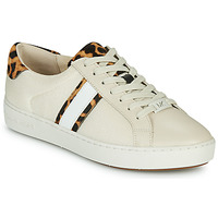 Chaussures Femme Baskets basses MICHAEL Michael Kors IRVING STRIPE LACE UP Ecru / Leopard