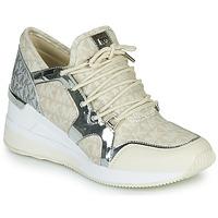 Chaussures Femme Baskets basses MICHAEL Michael Kors LIV TRAINER Beige / Argent
