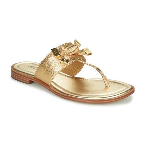 Chaussures Femme Tongs MICHAEL Michael Kors RIPLEY THONG Doré