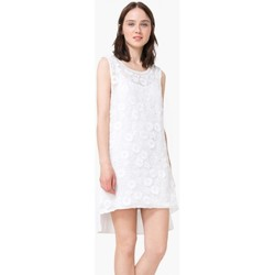 Vêtements Femme Robes courtes Desigual Robe Mauricio Blanc 73V2YY1 (sp) 1