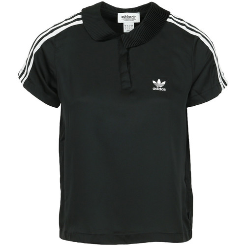 Vêtements Femme Polos manches courtes adidas Originals 3 Stripes Polo Wn's noir