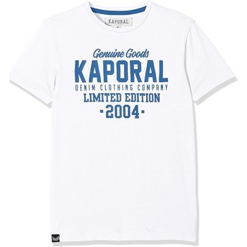 Vêtements Enfant T-shirts manches courtes Kaporal T-Shirt Garçon Ruff Blanc Blanc