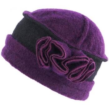 Accessoires textile Femme Chapeaux Léon Montane Bonnet Toque Laine Violet Noir Beret Femme Vintage Beleo Violet