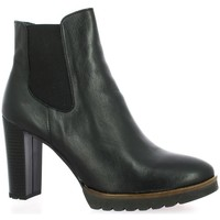 Chaussures Femme Low boots Pao Boots cuir Noir