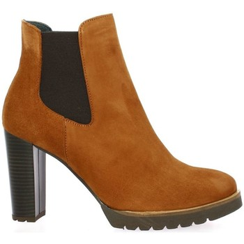Chaussures Femme Low boots Pao Boots cuir velours Cognac