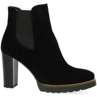 Chaussures Femme Low boots Pao Boots cuir velours Noir
