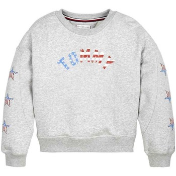 Vêtements Fille Sweats Tommy Hilfiger GRAPHIC CREW SWEATSHIRT gris