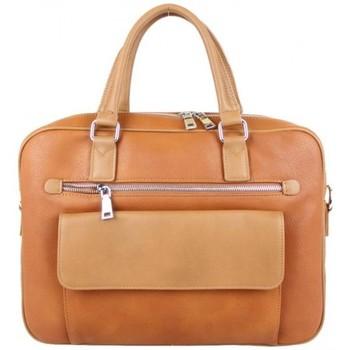 Sacs Femme Cabas / Sacs shopping Fuchsia Sac à main cabas arrondi  F1598-9 Camel Multicolor