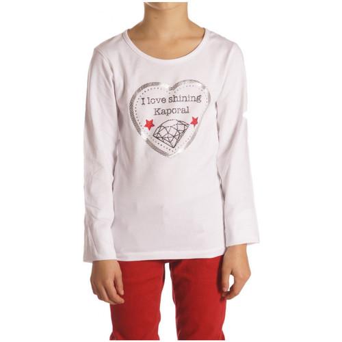 Vêtements Enfant T-shirts manches longues Kaporal T-Shirt fille manches longues FHEART Blanc