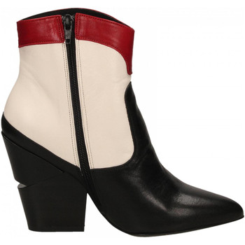 Chaussures Femme Bottines Oasi Private Collection STIVALETTI nero-bianco-rosso