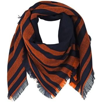 Accessoires textile Femme Echarpes / Etoles / Foulards Qualicoq Echarpe carrée Tilka - Couleur - Orange - Fabriqué en France Orange
