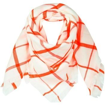 Accessoires textile Femme Echarpes / Etoles / Foulards Qualicoq Echarpe carrée Quadrille - Couleur - Ora Orange