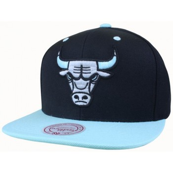 Casquettes Mitchell And Ness Casquette Snapback Chicago BULLS NBA - Black / Green Glow