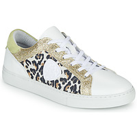 Chaussures Femme Baskets basses Philippe Morvan FURRY Blanc / Leopard / Glitter