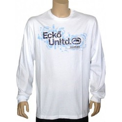 Vêtements Homme T-shirts manches courtes Ecko Ecko- T-Shirt a manches longues Shattered Panes - White blanc
