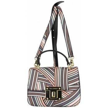 Sacs Femme Sacs porté main Ted Lapidus Petit sac cartable  TL VT Foggia motif coloré Noir Noir