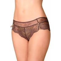 Sous-vêtements Femme Shorties & boxers Selmark Shorty dentelle Violeta Chocolat