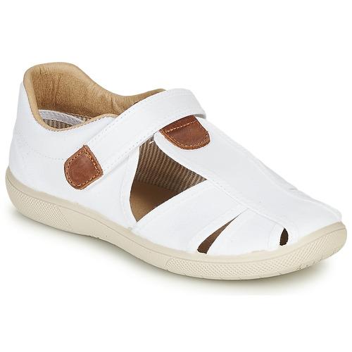 Chaussures Garçon Sandales et Nu-pieds Citrouille et Compagnie GUNCAL Blanc