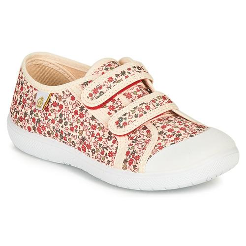 Chaussures Fille Baskets basses Citrouille et Compagnie GLASSIA Ecru / Multicolore