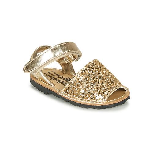 Chaussures Fille Sandales et Nu-pieds Citrouille et Compagnie SQUOUBEL Doré