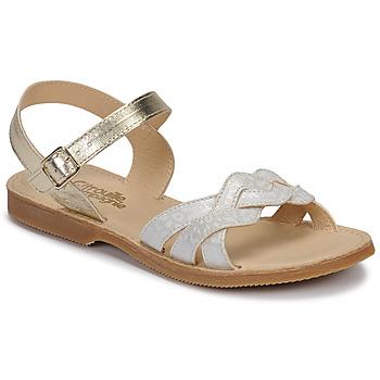Chaussures Fille Sandales et Nu-pieds Citrouille et Compagnie MADELLE Argenté