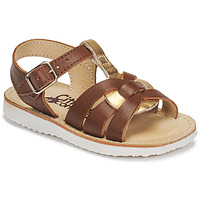 Chaussures Fille Sandales et Nu-pieds Citrouille et Compagnie MINOTTE Marron / Doré