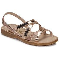Chaussures Fille Sandales et Nu-pieds Citrouille et Compagnie GENTOU Bronze / Glitter