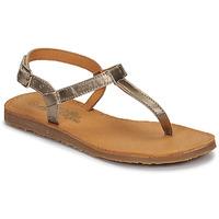 Chaussures Fille Tongs Citrouille et Compagnie MIZZA Doré