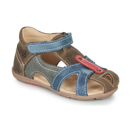 Chaussures Garçon Sandales et Nu-pieds Citrouille et Compagnie MARIOL Gris/ Bleu