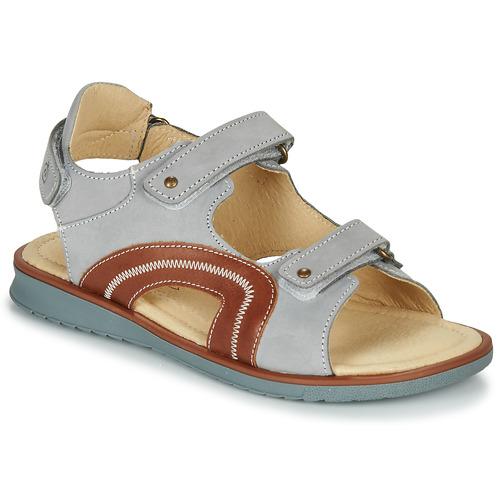 Chaussures Garçon Sandales et Nu-pieds Citrouille et Compagnie MASTIKO Gris