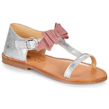 Chaussures Fille Sandales et Nu-pieds Citrouille et Compagnie MELINDA Argenté