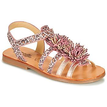 Chaussures Fille Sandales et Nu-pieds Citrouille et Compagnie MARINAS Rose