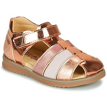 Chaussures Fille Sandales et Nu-pieds Citrouille et Compagnie FRINOUI Bronze / Rose