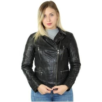 Vêtements Femme Vestes en cuir / synthétiques Oakwood Blouson  Screen en cuir ref_46887 Noir Noir
