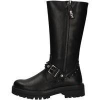 Chaussures Fille Bottes ville Asso AG-3503 NOIR