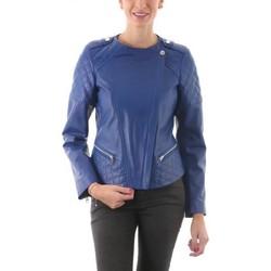 Vêtements Femme Vestes en cuir / synthétiques Giorgio Sherry Bleu Elec Bleu