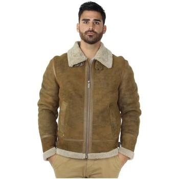 Blouson Oakwood Veste peaux lainées ref_46976 Café