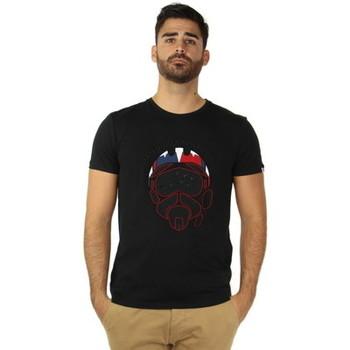 Vêtements Homme T-shirts manches courtes Redskins Tee-shirt cask-national Patrouille de France ref_47531 noir Noir
