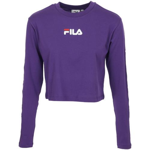 Vêtements Femme T-shirts manches courtes Fila Reva Cropped T-Shirt violet