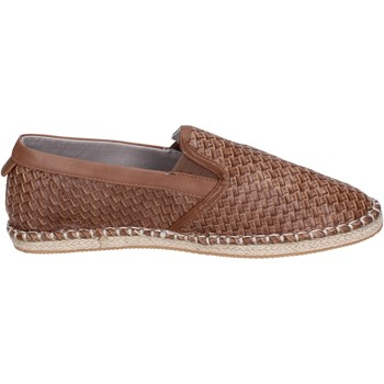 Chaussures Homme Espadrilles Henry Cotton's slip on cuir synthétique marron