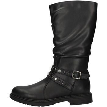 Chaussures Fille Bottes ville Asso AG-3402 NOIR